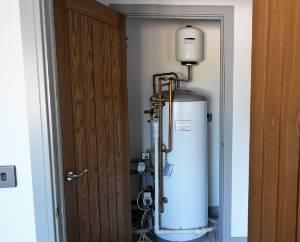 Pressurised hot Water Tank  included as standard in 4 bedroom + homes