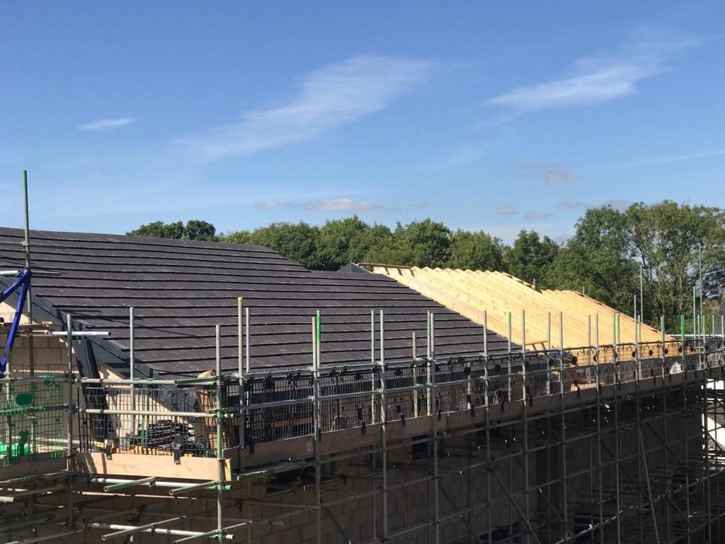 Roof tiles on plot 6 are complete