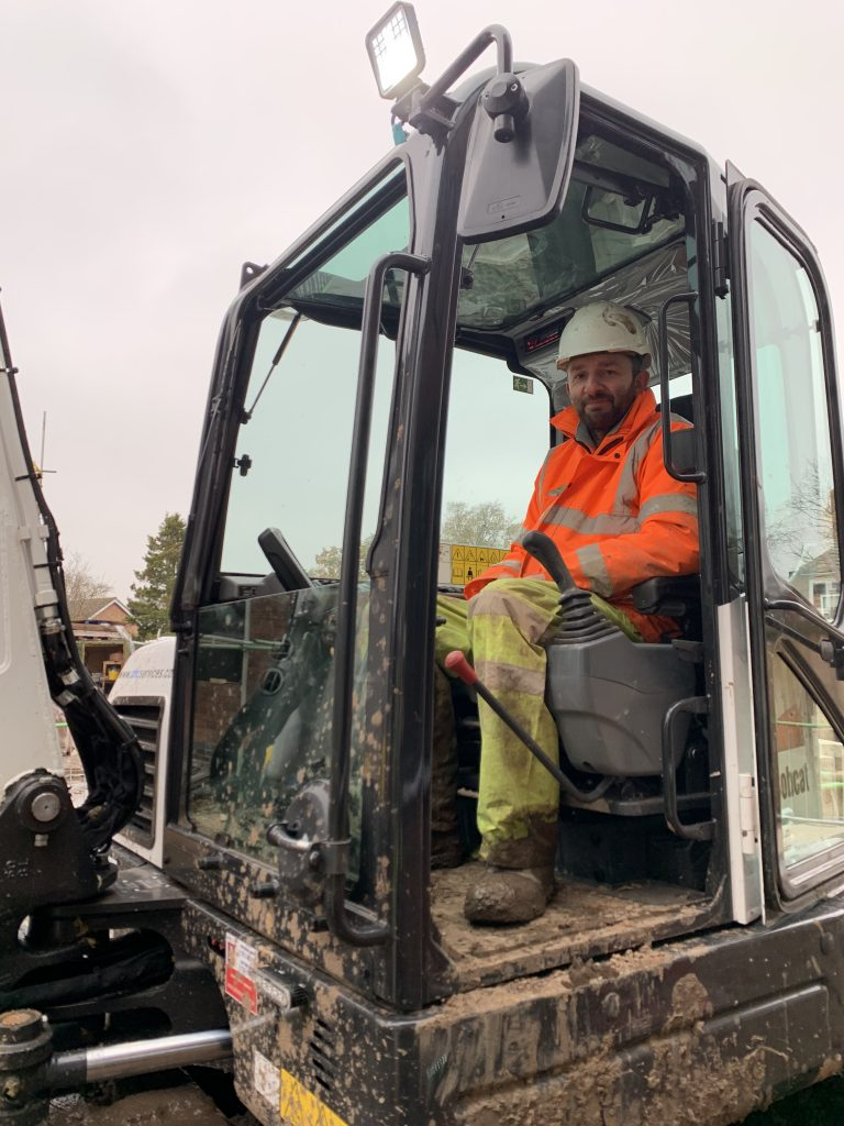 Graham on his Excavator