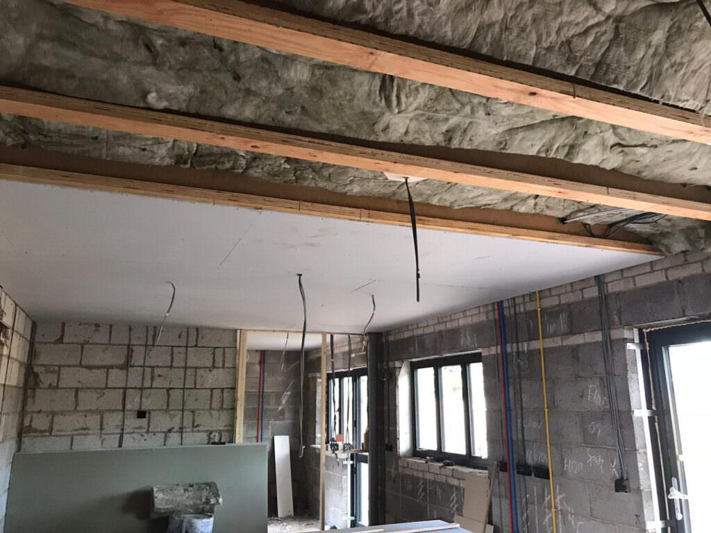 Ceiling insulation in Plot 7